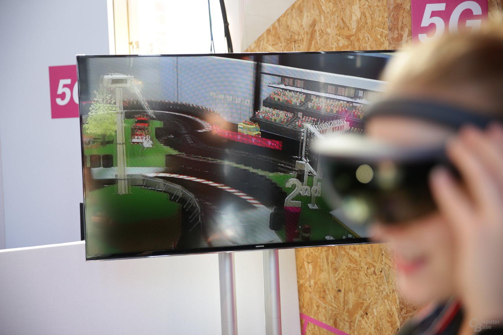 Platzierung und künstliche Zuschauer in die Brille projiziert