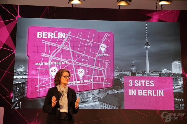 Drei 5G-Standorte mit vier Funkzellen in Berlin