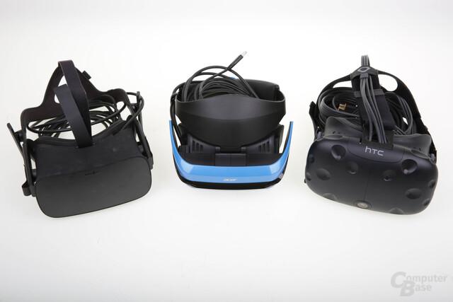 Oculus Rift, Acer Windows Mixed Reality und HTC Vive im Vergleich