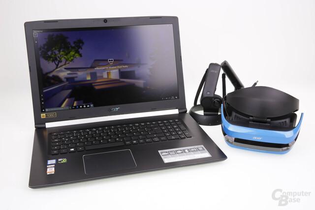 Notebook und Headset von Acer: High-End-PC-VR wird quasi mobil