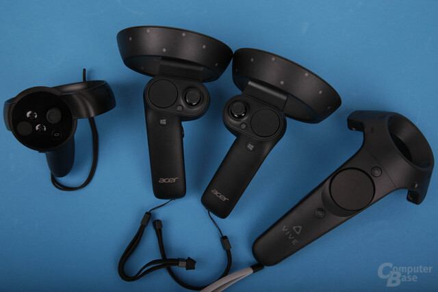 Die Controller von Oculus, Windows Mixed Reality und HTC Vive