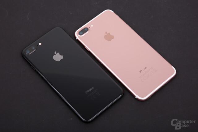 iPhone 8 Plus mit neuer glänzender Rückseite aus Glas