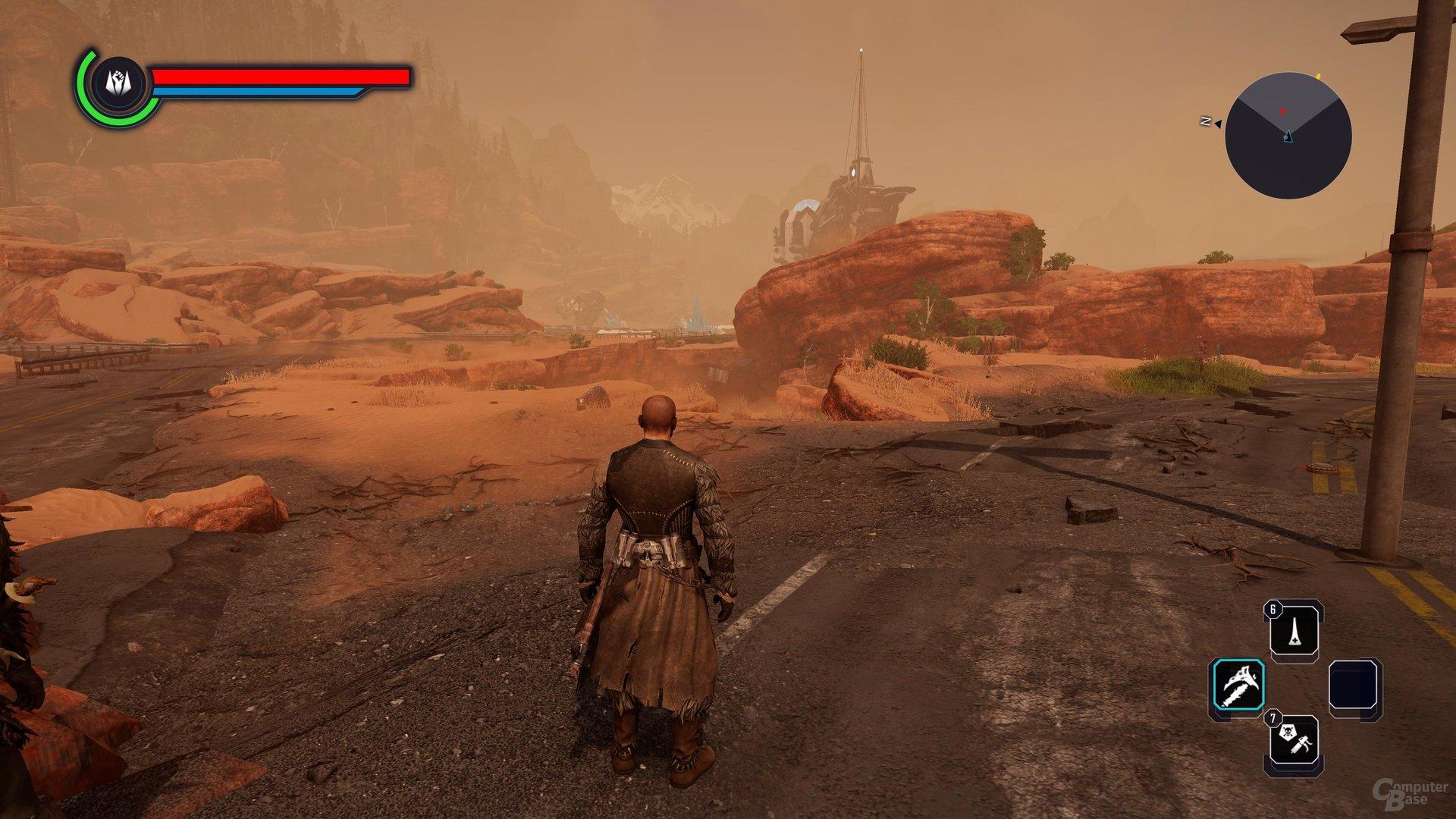 Das Wüstengebiet ist weit weniger freundlich