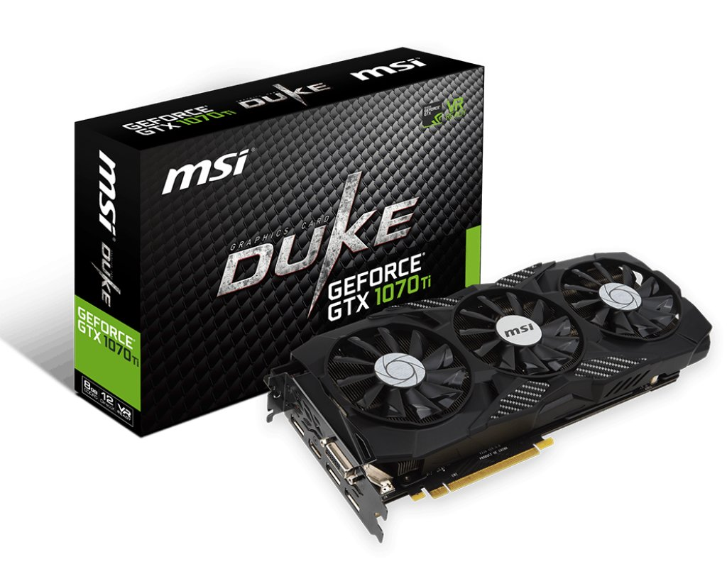 MSI GeForce GTX 1070 Ti Duke