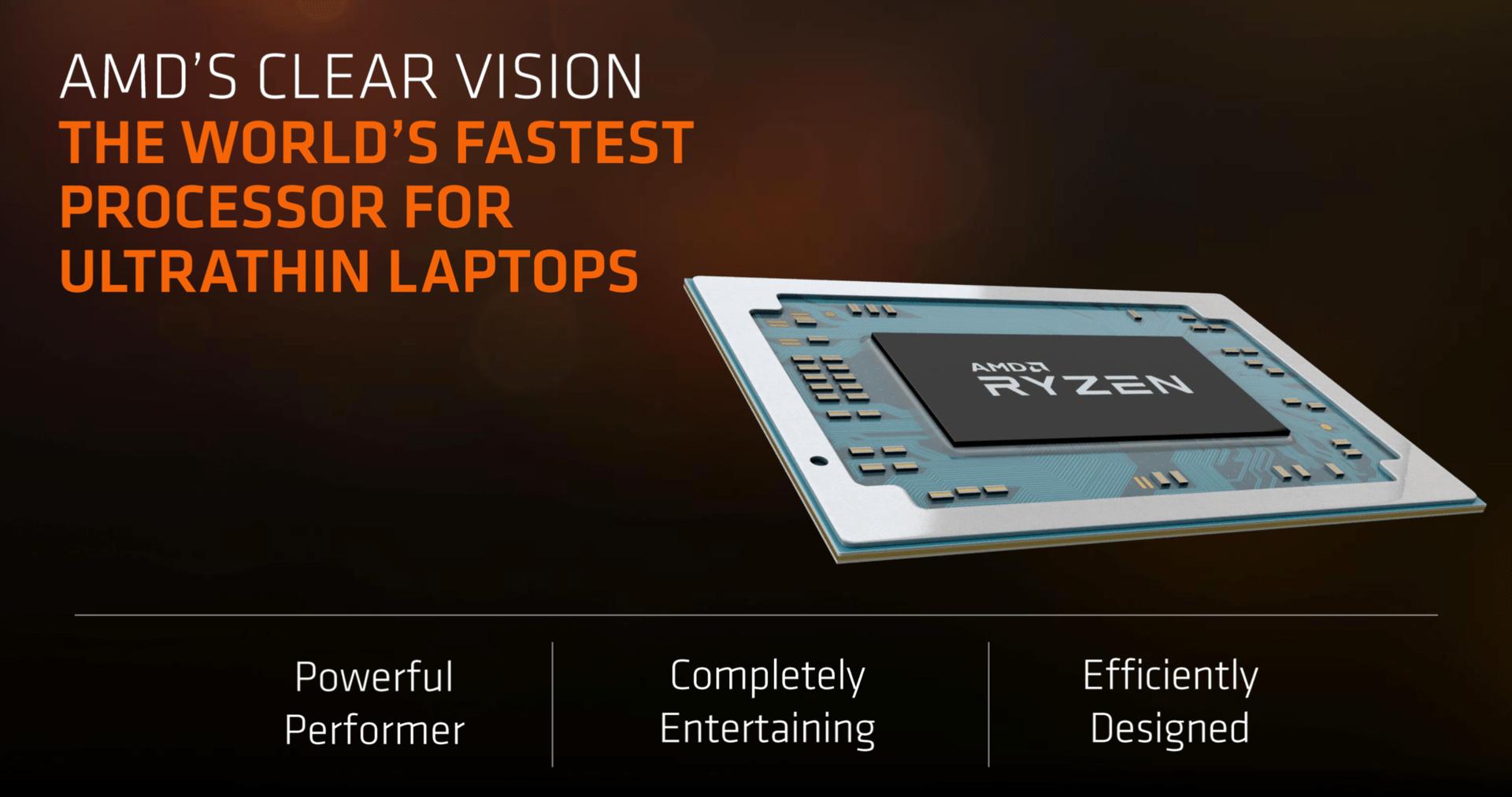 AMDS Vision vom schnellsten Prozessor für Ultradünne Notebooks