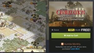 Aktion: Civilization 3 kostenlos  bei Humble Bundle
