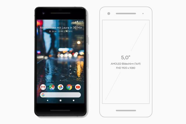 Das Pixel 2 kommt mit Samsung-OLED und 1.920 × 1.080 Pixeln