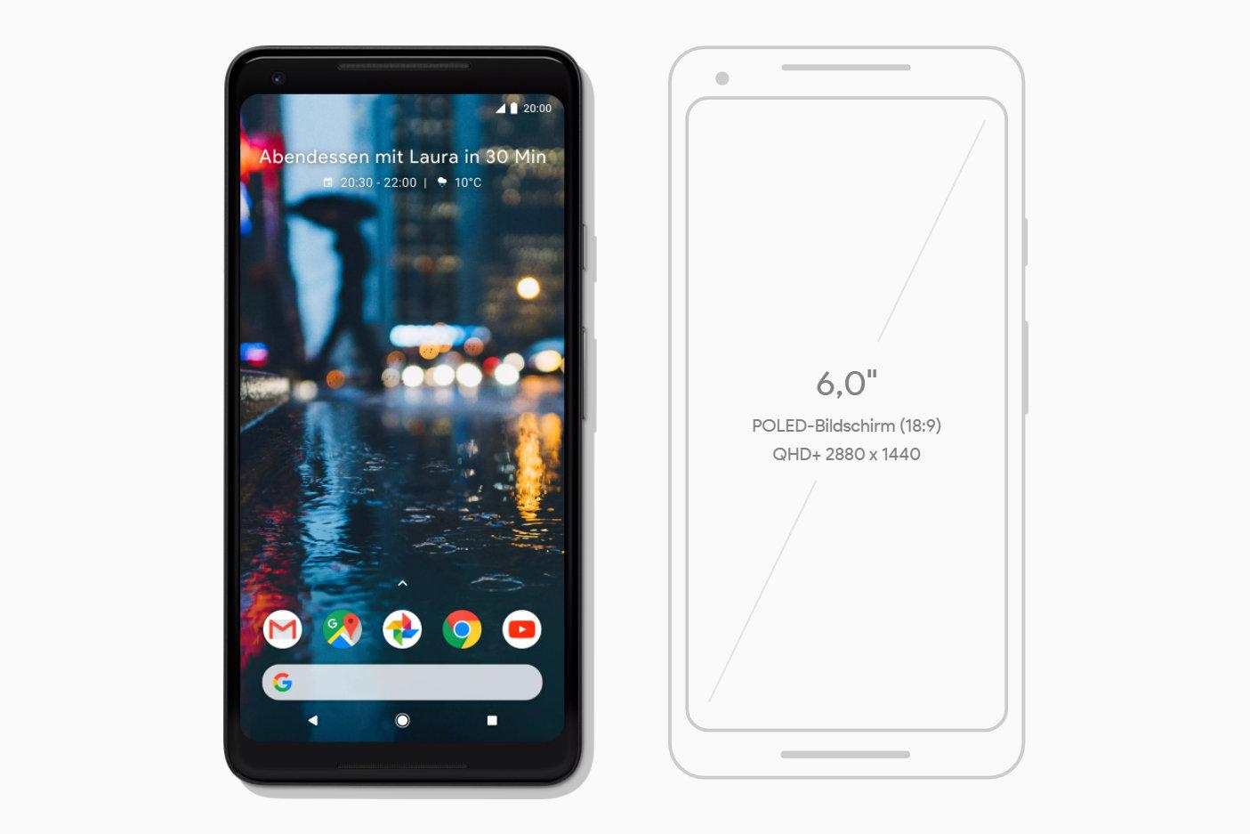 Pixel 2 XL kommt mit POLED-Display von LG und 2.880 × 1.440 Pixeln