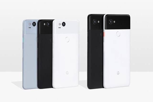 Die insgesamt fünf Modelle des Pixel 2 und Pixel 2 XL