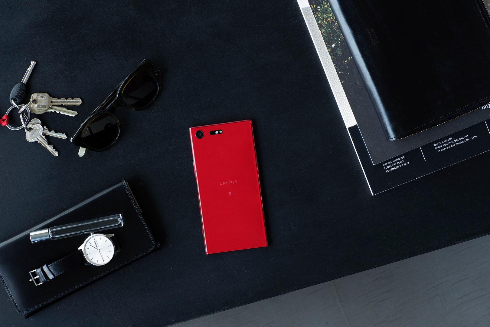 Sony Xperia XZ Premium in Rot