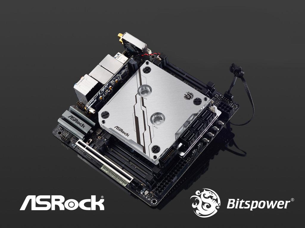 ASRock X299E-ITX/ac mit Monoblock für Wasserkühlungen