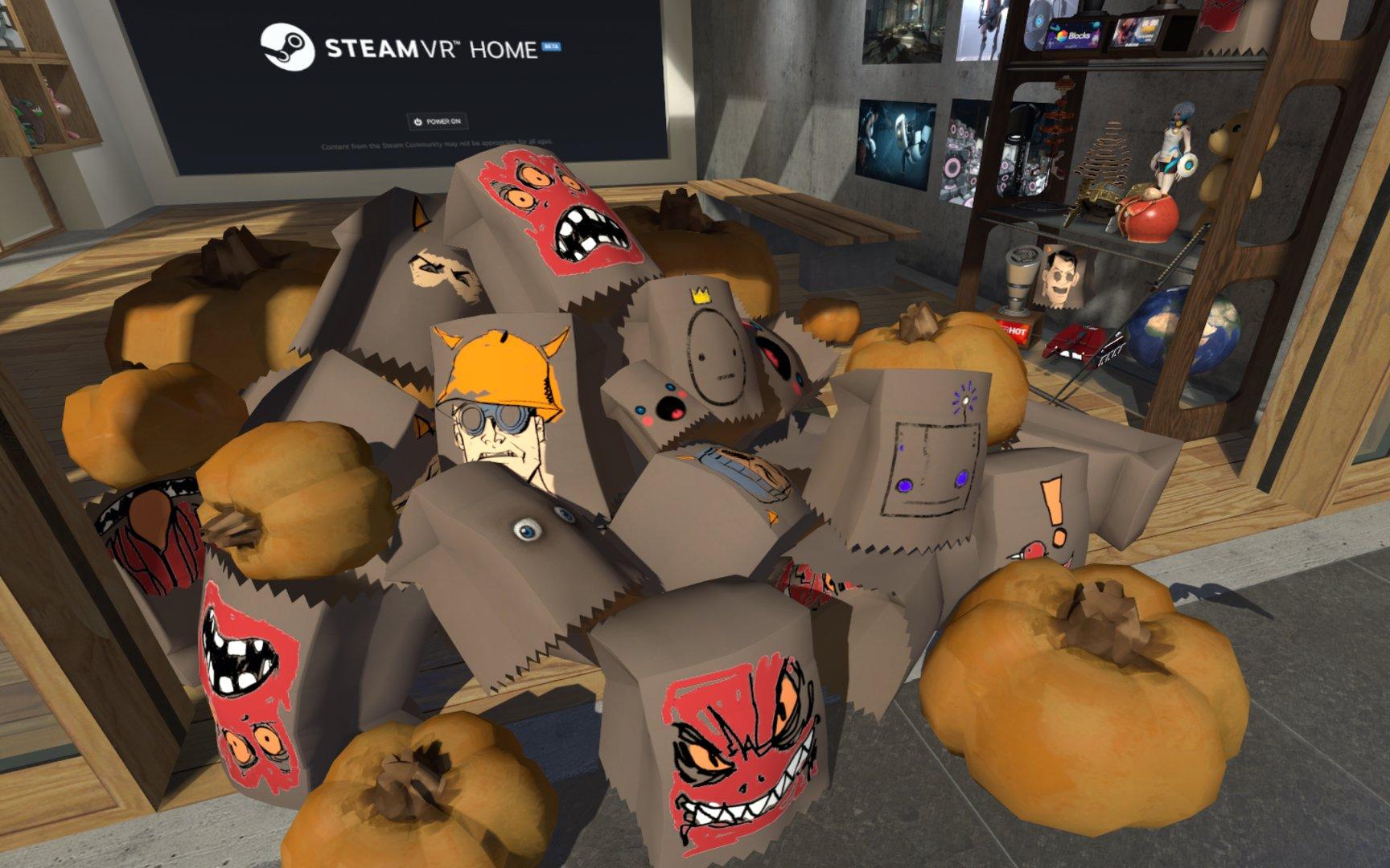 Frische Halloween-Masken für SteamVR Home