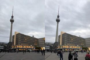 Pixel 2 (XL) (links) vs. iPhone 8 Plus (rechts)