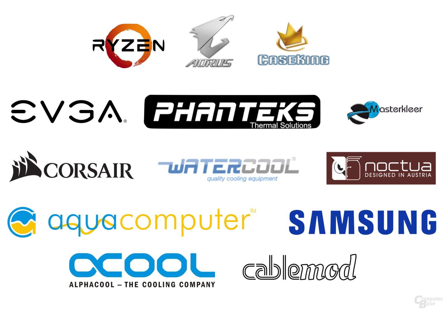 High-End-Komponenten von einem Dutzend Unternehmen
