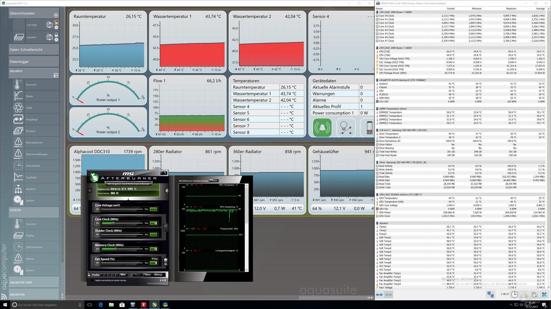 Messwerte nach 45 Minuten Wolfenstein 2 (Ultra HD, Mein Leben!)
