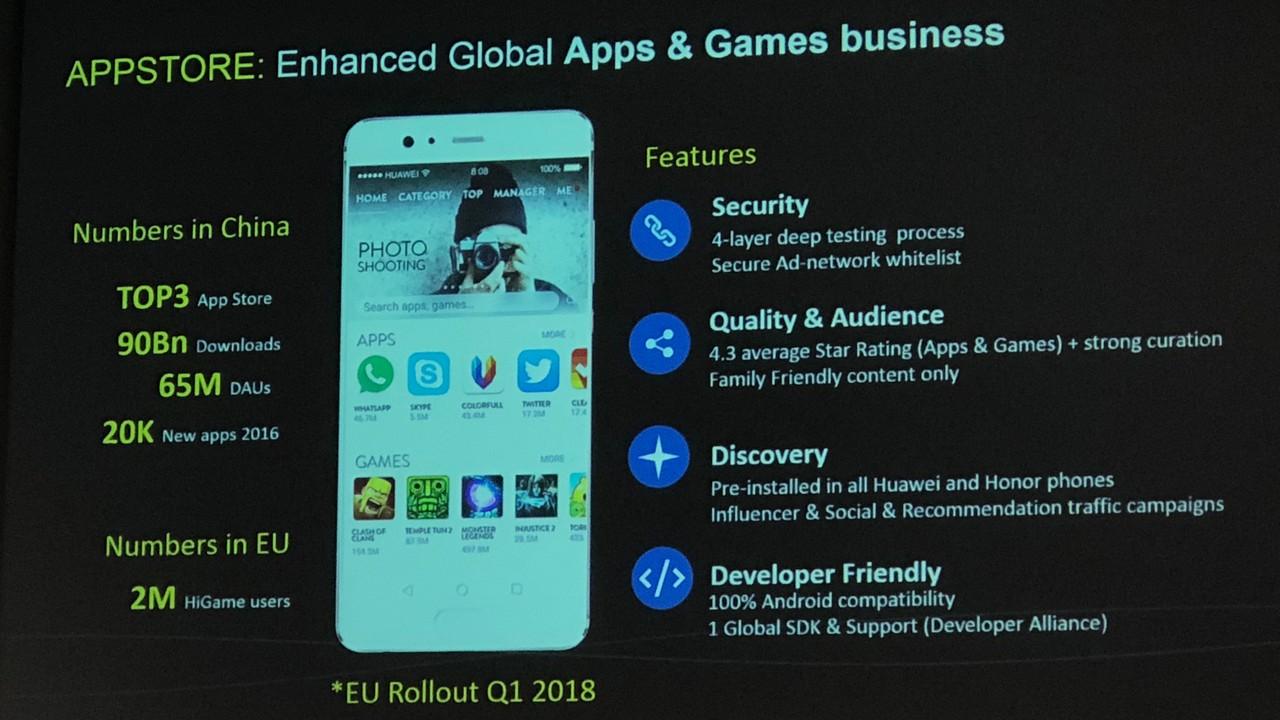 Huawei: Eigener App Store und Video-Service für 2018 geplant