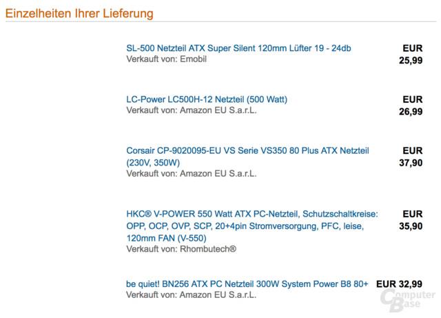 Fünf Netzteile für insgesamt 160 Euro im Test