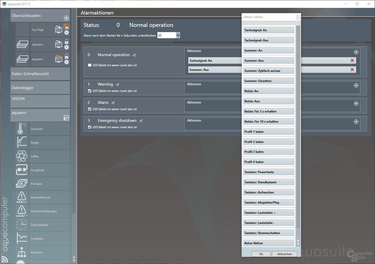 Aqua Computer Aquaero 6 LT: Alarmeinstellungen