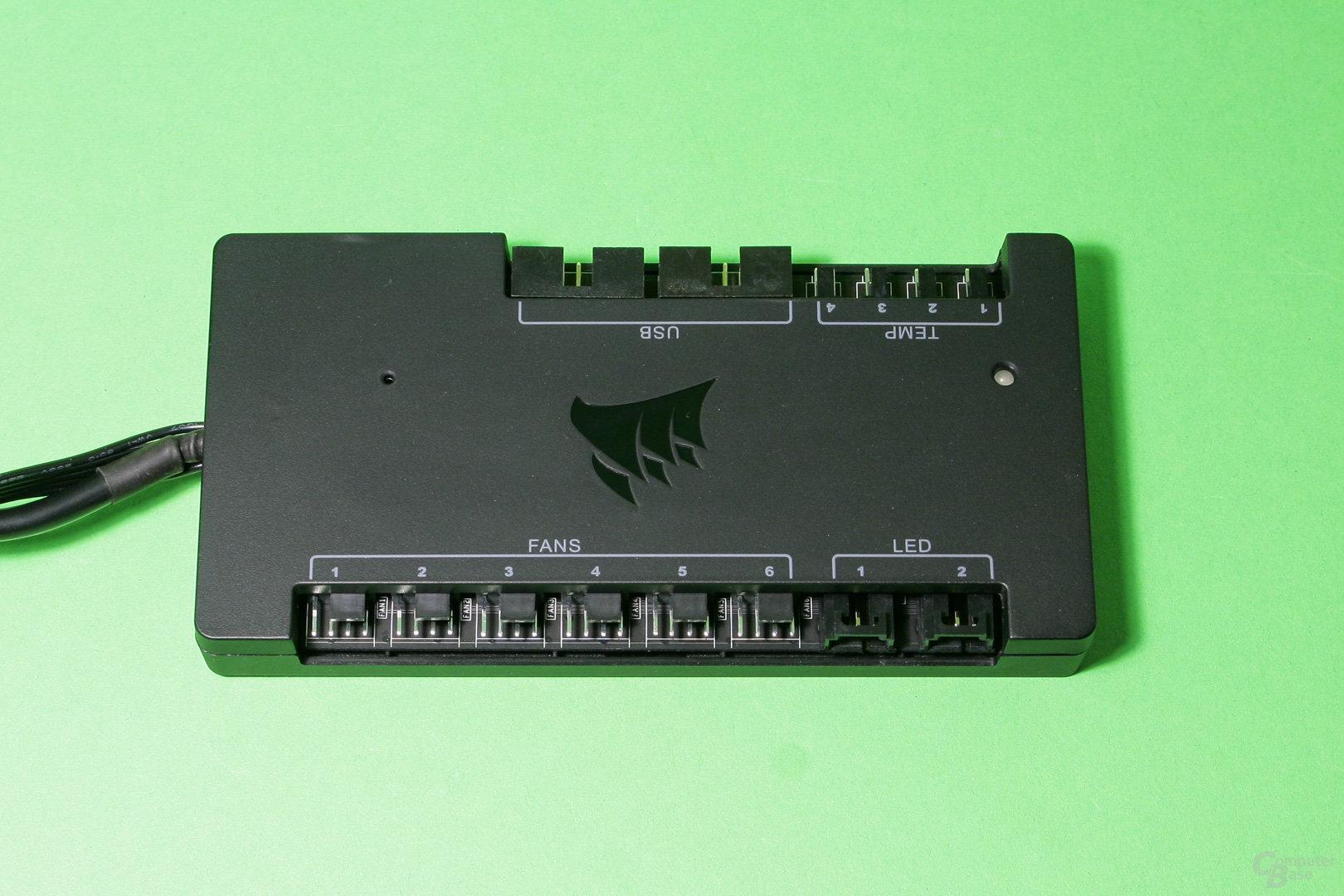 Corsair Commander Pro: Sechs Lüfteranschlüsse und zwei RGB-LED-Anschlüsse