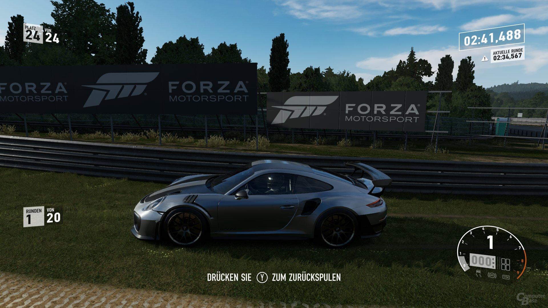 Forza Motorsport 7 auf Xbox One X ohne Update