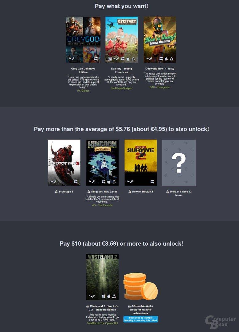 Das Humble Jumbo Bundle 10 enthält viele interessante Spiele