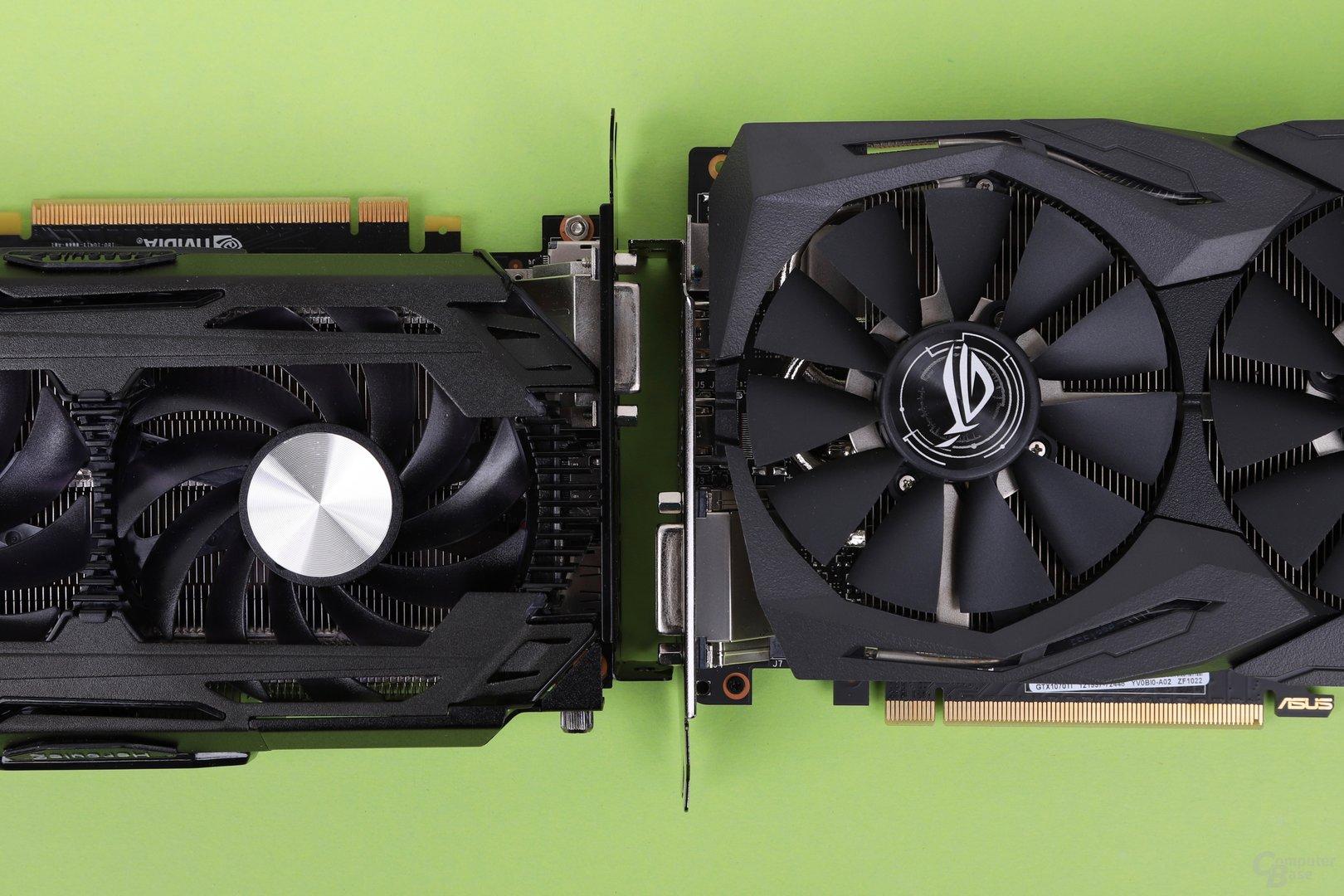 GeForce GTX 1070 Ti: Inno3D iChill X3 gegen Asus Strix (Advanced Edition)