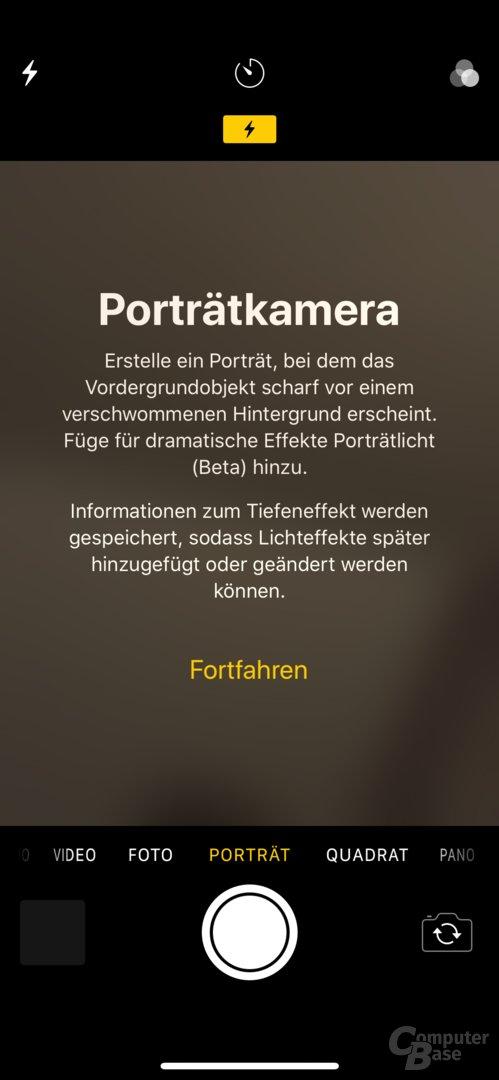 iPhone X: Porträtmodus der Frontkamera