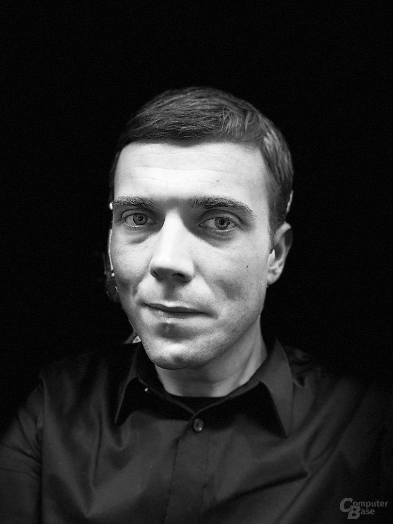 iPhone X: Porträtmodus der Frontkamera – Bühnenlicht Mono