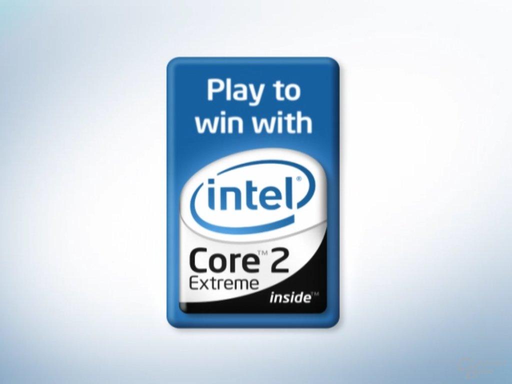 Spielstart: Werbung für die ersten Quad-Core-CPUs von Intel