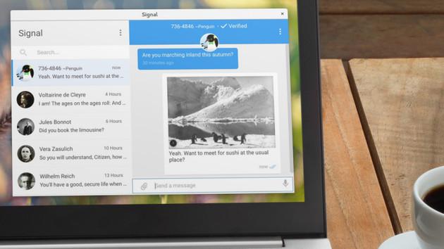 Messenger: Signal mit Desktop-App auch ohne Chrome nutzbar