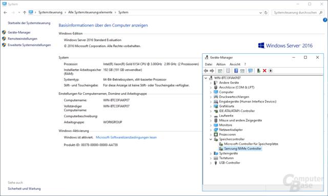 Nur über Umwege: Samsungs NVMe-Treiber auch unter Windows Server 2016