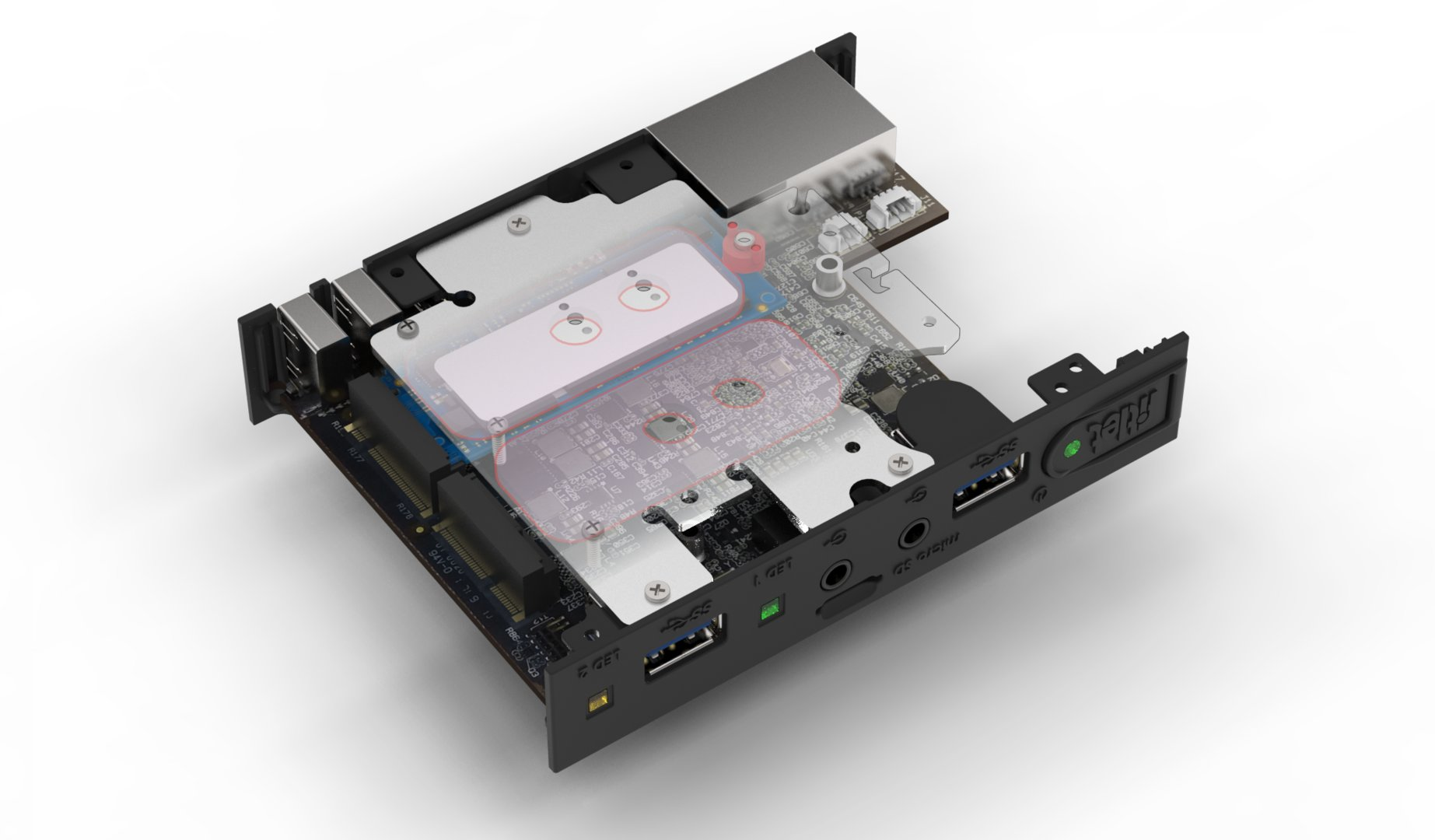 Kühlplatte für M.2-Modul
