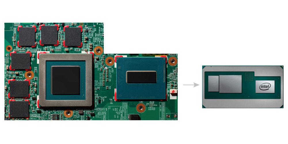 CPU, GPU und Speicher in einem Package spart massig Platz