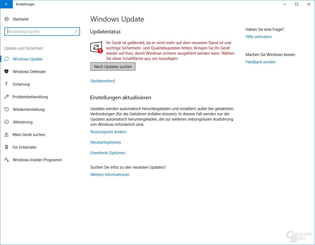 Das System wird noch mit dem Creators Update ausgeliefert