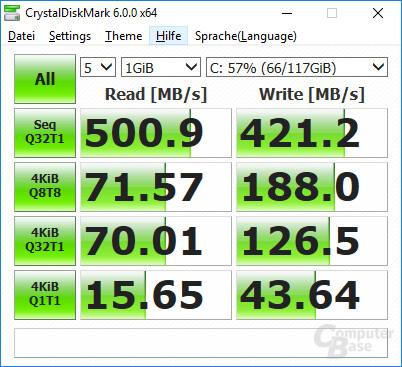 CrystalDiskMark der SSD