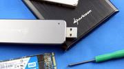 """USB-SSD-Gehäuse im Test: Silverstone und Sharkoon mit USB 3.1 für M.2 und 2,5"""""""