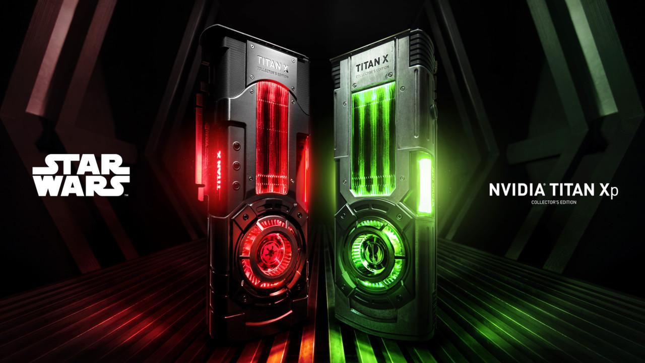 Nvidia Titan Xp Star Wars: Collector's Edition Jedi Order in Grün, Galactic Empire in Rot