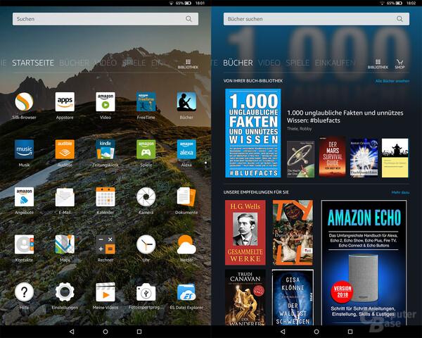 Bei Fire OS stehen Inhalte im Vordergrund