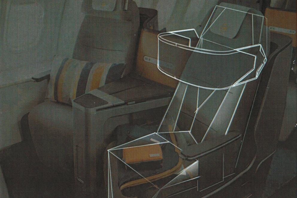 Konzept des Smart Chairs über aktuelle Business Class gelegt