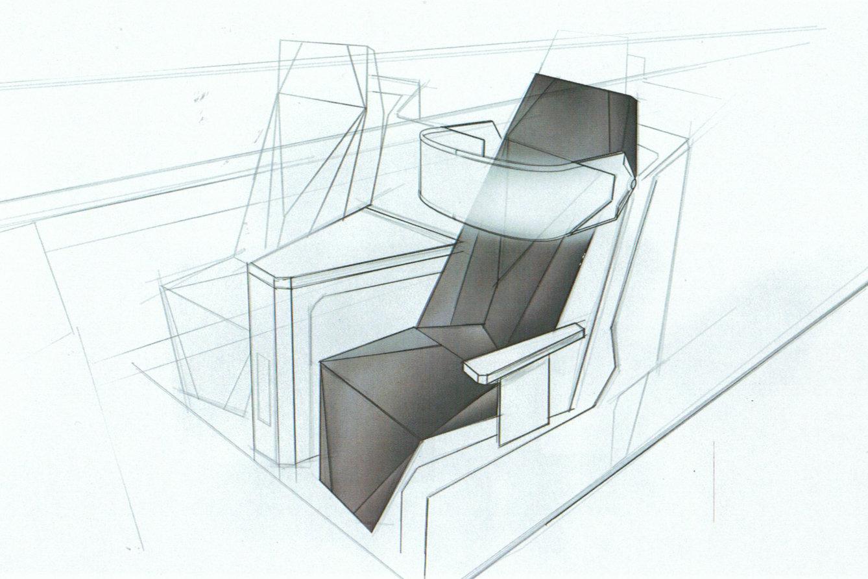 Der Smart Chair in die Business Class integriert
