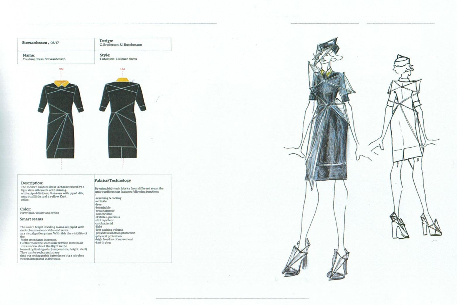 Konzept einer neuen Uniform für das Kabinenpersonal