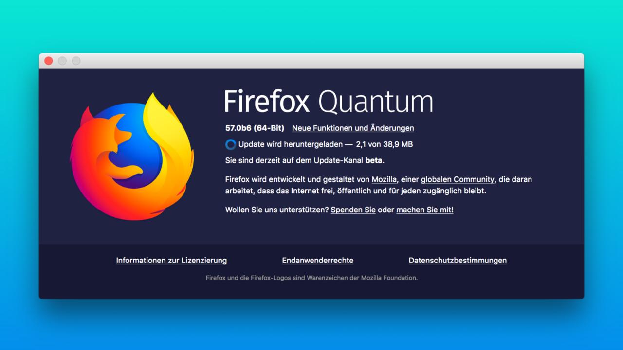 """Firefox 57 """"Quantum"""": Update bringt neues Design und mehr Geschwindigkeit"""