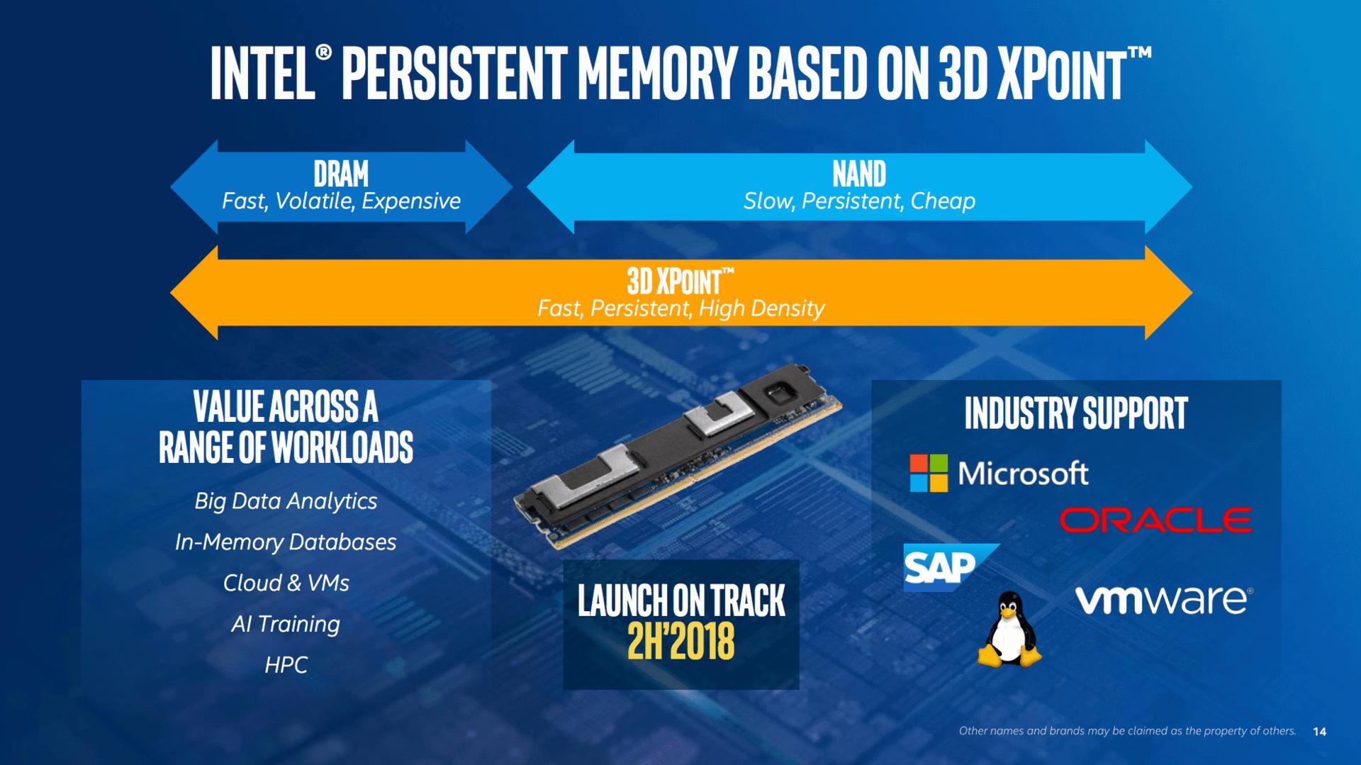 Intel persistent memory kommt im zweiten Halbjahr 2018