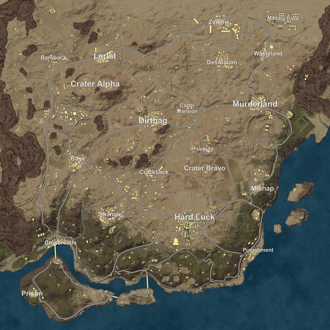 Desert Map on
