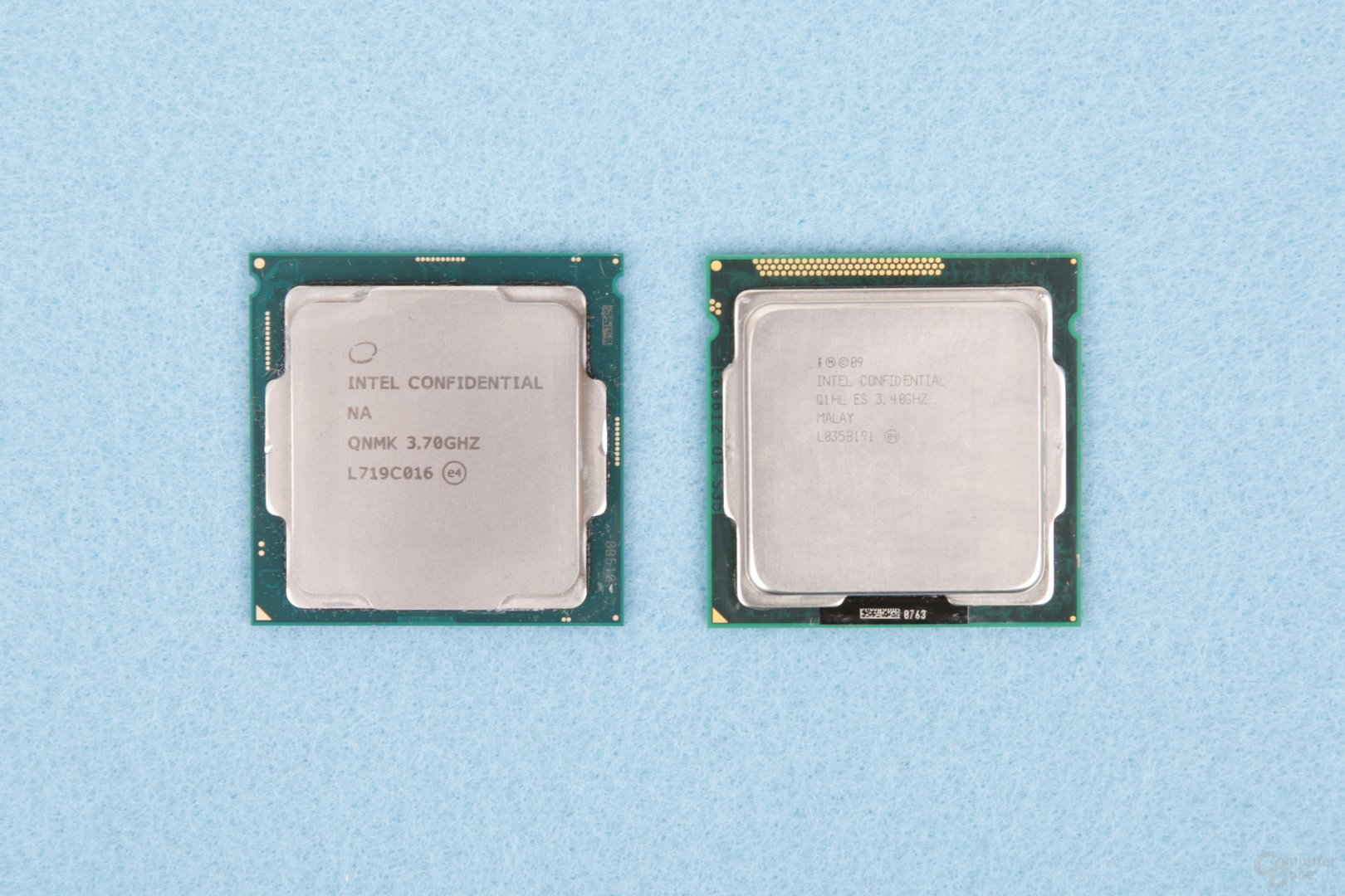 Intel Core i7-2600K und Intel Core i7-8700K als Engineering Sample