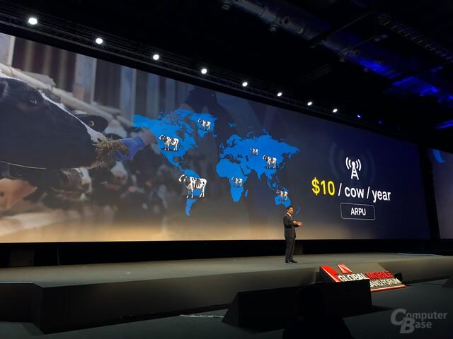 Ken Hu während der Keynote des Huawei MBBF 2017 in London