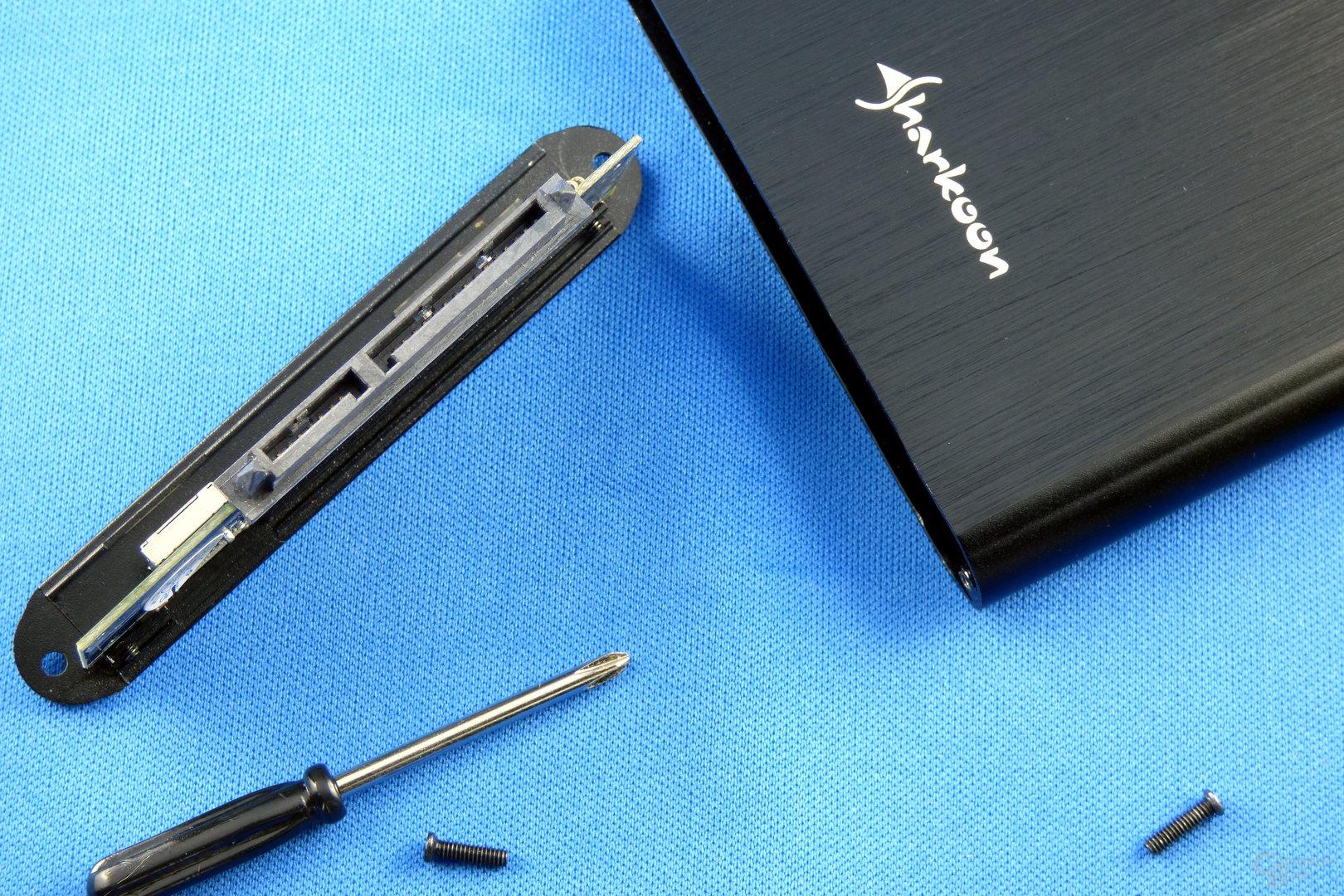 """Sharkoon Rapid Case 2,5"""": Anschluss für herkömmliche SATA-SSDs"""