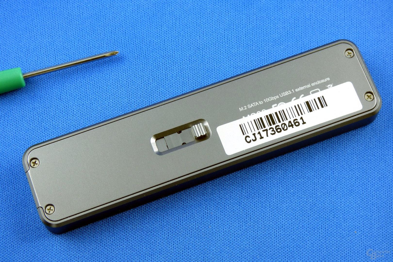 SilverStone MS09: Schieber auf der Unterseite