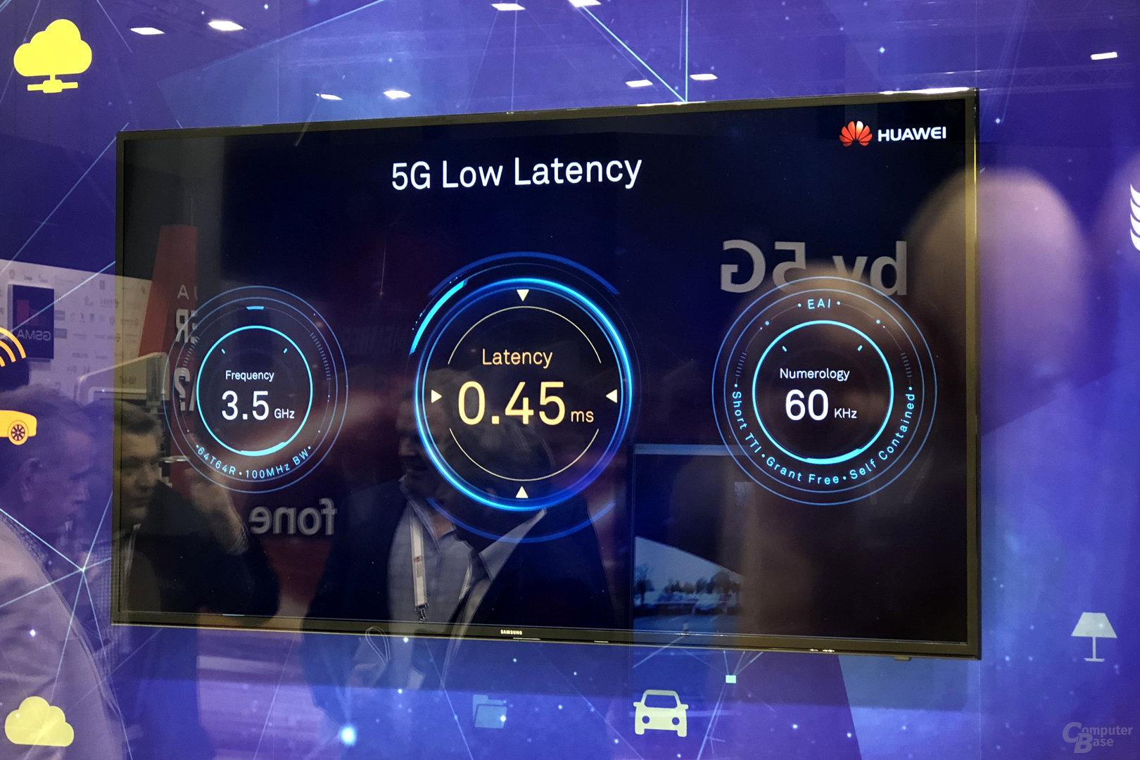 Demo einer 5G-Verbindung mit niedriger Latenz