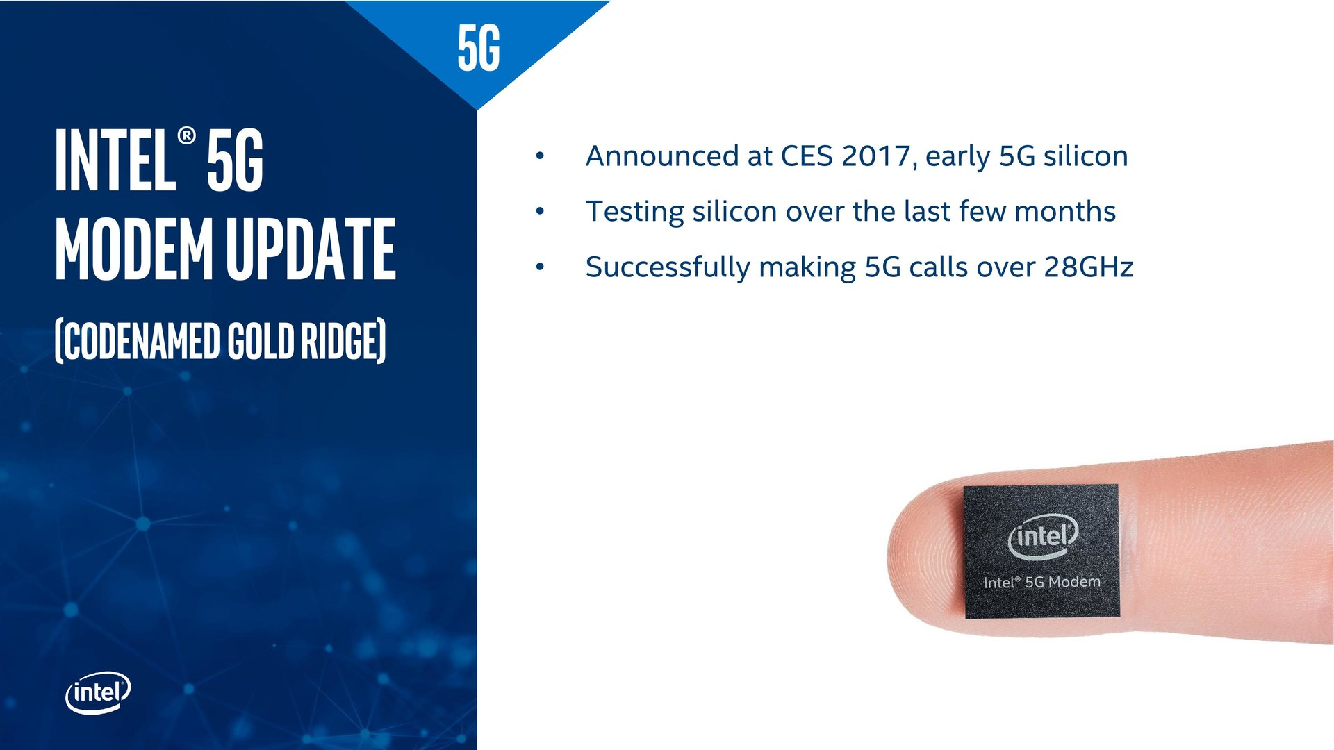 Update zum 5G-Modem Gold Ridge